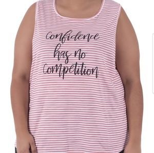Confidence has no competition tank top